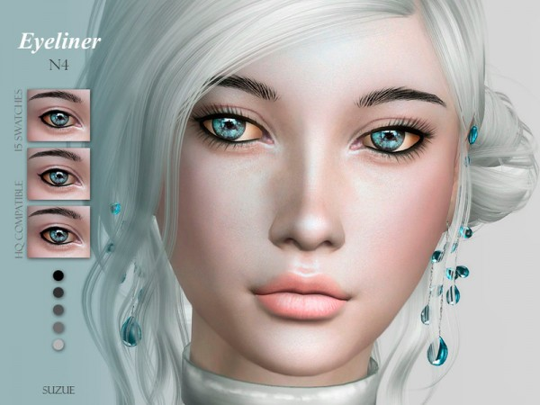 The Sims Resource: Eyeliner N4 by Suzue