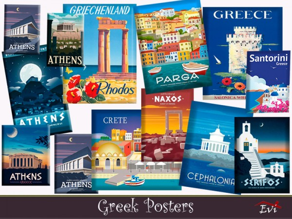 The Sims Resource: Greek posters by evi