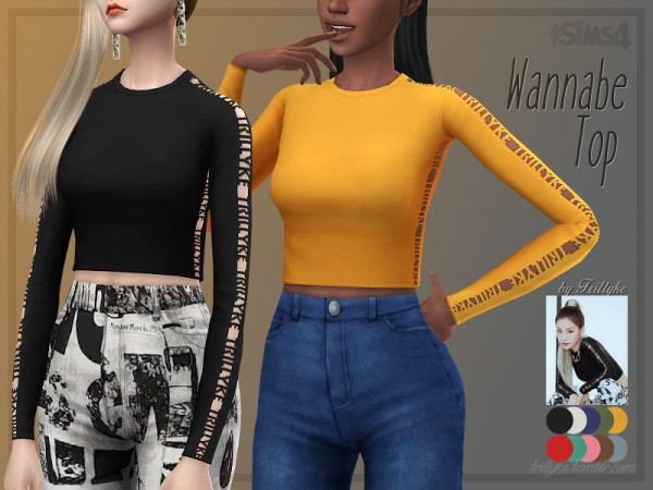 The Sims Resource: Wannabe Top by Trillyke
