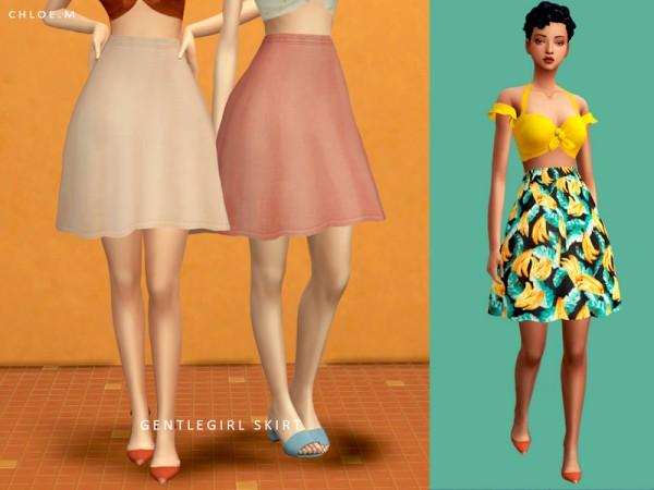 The Sims Resource: GentleGirl Skirt by ChloeM