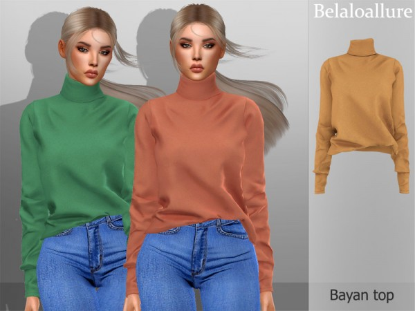 The Sims Resource: Belaloallure Bayan top by belal1997