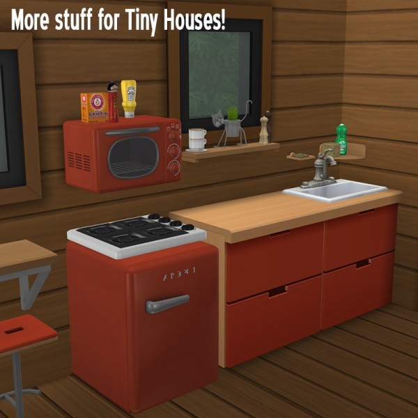 Around The Sims 4: Kitchenette for Tiny Houses
