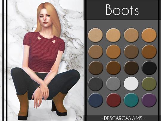 Descargas Sims: Boots