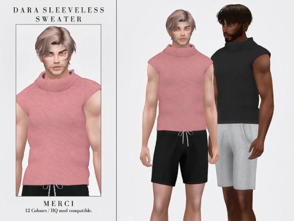 The Sims Resource: Dara Sleeveless Sweater by Merci