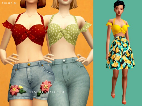 The Sims Resource: Resort Style Top by ChloeM