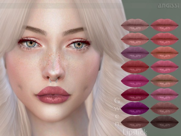 The Sims Resource: Lipstick Gwen by ANGISSI