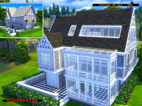 The Sims Resource: Cottage Am See   NOW unfurnished by QubeDesign