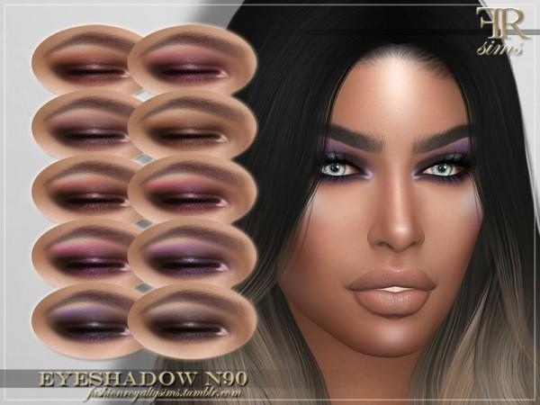 The Sims Resource: Eyeshadow N90 by FashionRoyaltySims