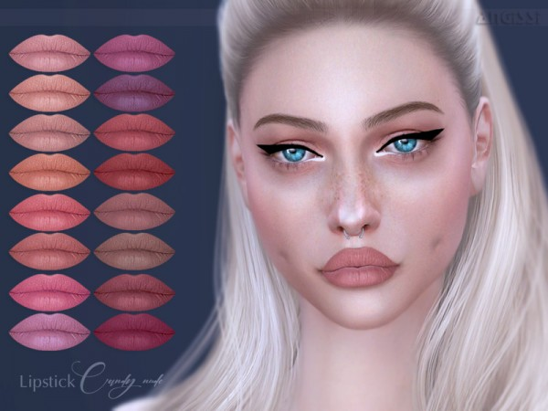 The Sims Resource: Lipstick Candy nude by ANGISSI