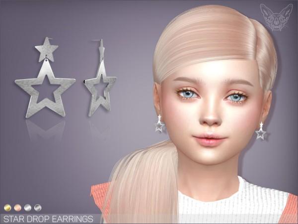 Giulietta Sims: Star Drop Earrings For Kids