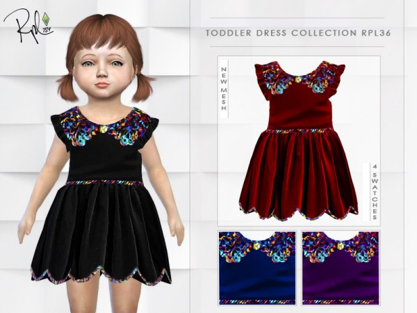 The Sims Resource: Toddler Dress Collection RPL36 by RobertaPLobo
