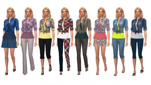 Sims 4 Sue: Tied Denim Shirt