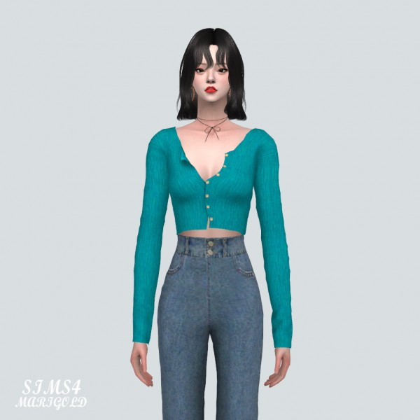 SIMS4 Marigold: A Crop Cardigan