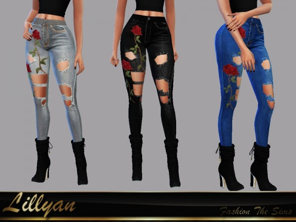 The Sims Resource: Jeans Thamires by LYLLYAN