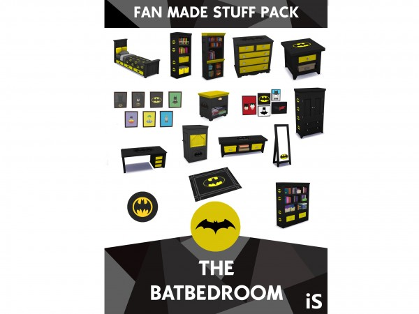 Mod The Sims: The batbedroom collection for children by iSandor