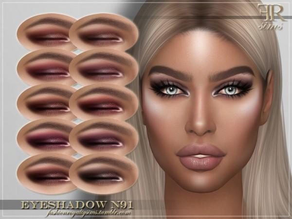 The Sims Resource: Eyeshadow N91 by FashionRoyaltySims