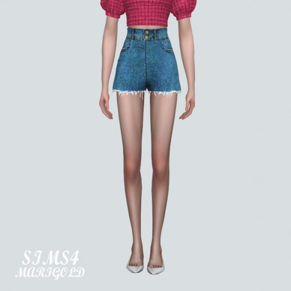 SIMS4 Marigold: A High Waist Hot Pants