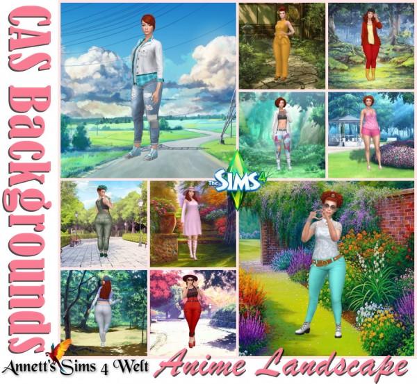 Annett`s Sims 4 Welt: CAS Backgrounds   Anime Landscape