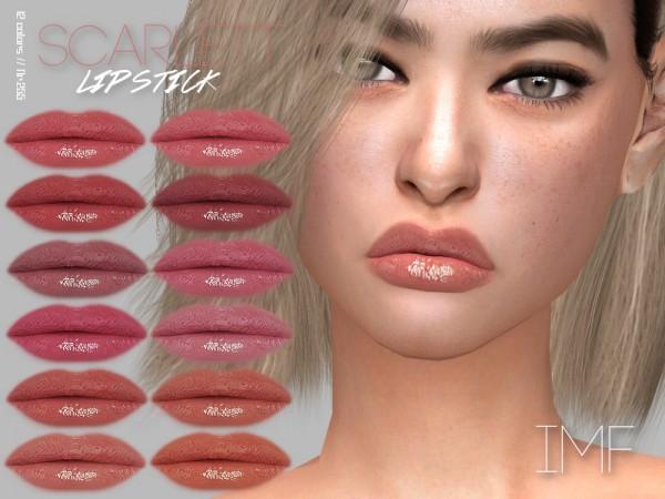 The Sims Resource: Scarlett Lipstick N.255 by IzzieMcFire