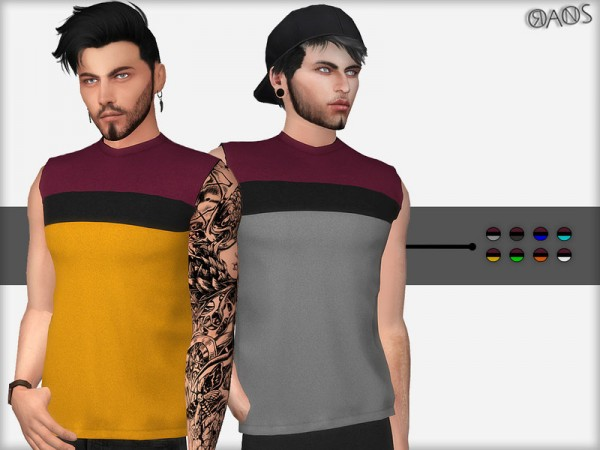 The Sims Resource: Oversized Sleeveless T Shirt by OranosTR