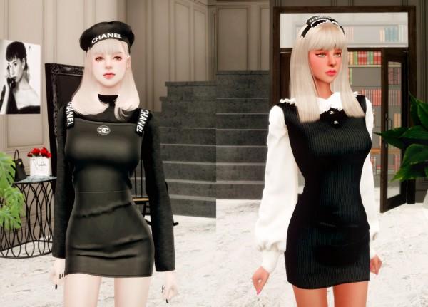 Rimings: Dress and Hat Set