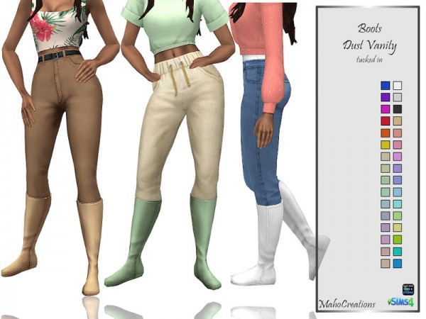 The Sims Resource: Boots Dust Vanity Boots by MahoCreations