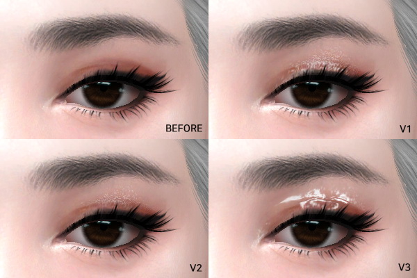 MMSIMS: Eye Glitter and gloss