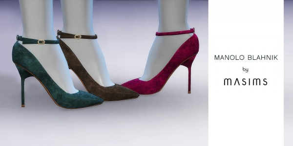 MA$ims 3: Ankle Strap Suede Pumps
