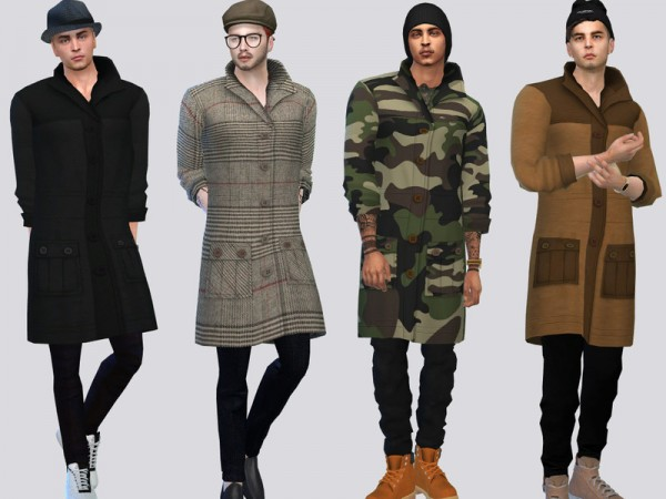 The Sims Resource: Heavy Coat Jacket by McLayneSims