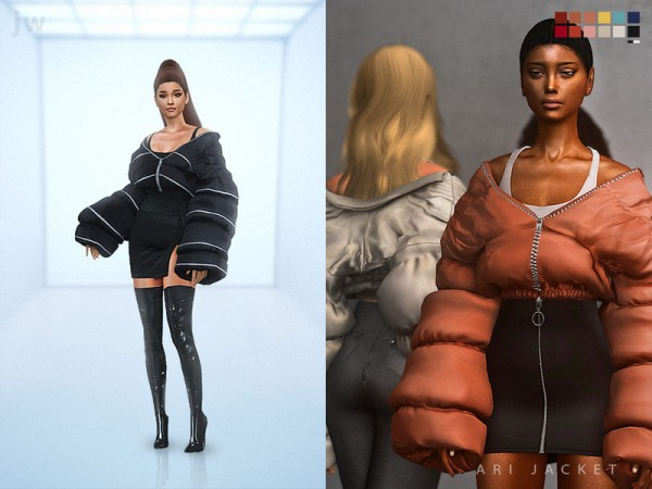 The Sims Resource: Ari jacket   accesory by jwofles sims
