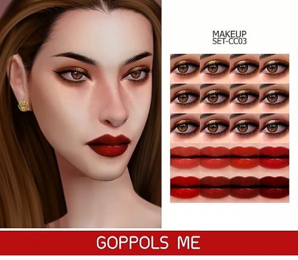 GOPPOLS Me: Gold Makeup Set CC03