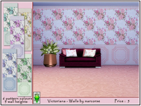The Sims Resource: Victoriana   Walls by marcorse