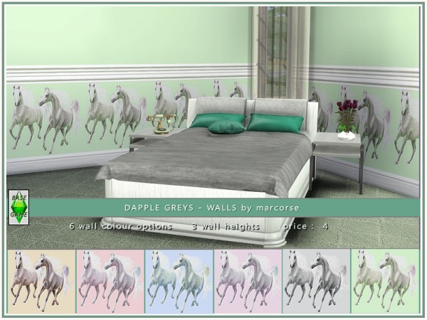 The Sims Resource: Dapple Greys Walls by marcorse