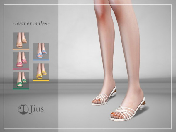 The Sims Resource: Jius leather mules 01 by Jius
