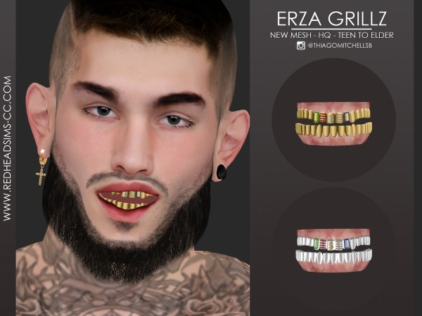 Red Head Sims: Erza Grillz