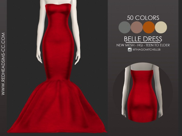 Red Head Sims: Belle Dress