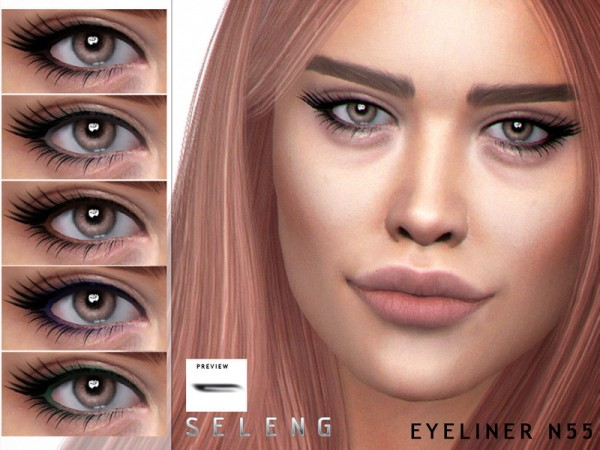 The Sims Resource: Eyeliner N55 by Seleng