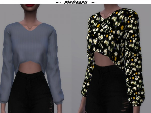 The Sims Resource: Lazy Drop cut Top by MsBeary