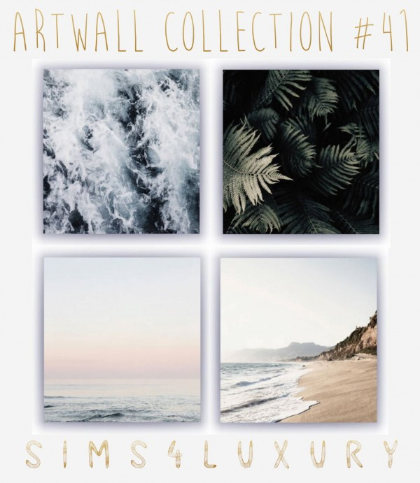 Sims4Luxury: Artwall Collection 41