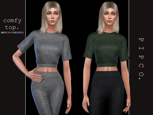 The Sims Resource: Comfy Top by Pipco