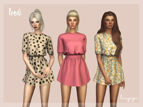 The Sims Resource: Izadi Dress by Laupipi