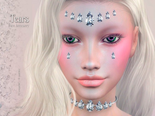 The Sims Resource: Tears Accesory by Suzue