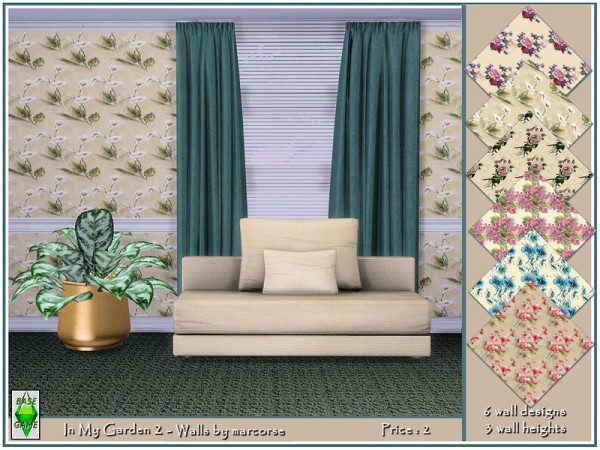 The Sims Resource: In My Garden 2   Walls by marcorse