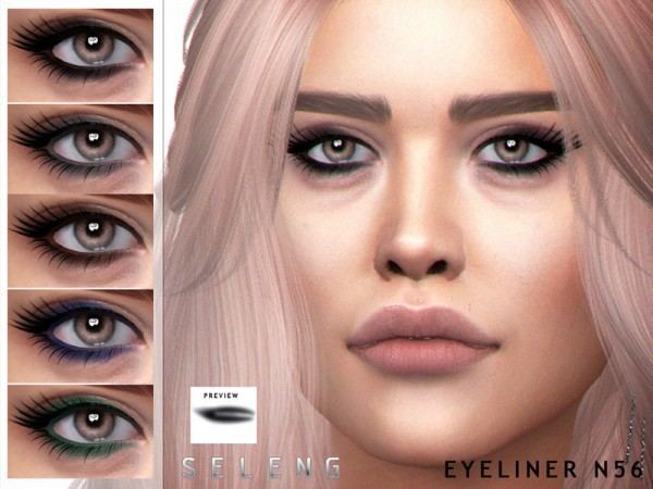 The Sims Resource: Eyeliner N56 by Seleng