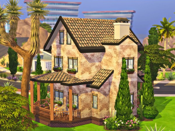 The Sims Resource: Small Diagonal House   NO CC by Simalien
