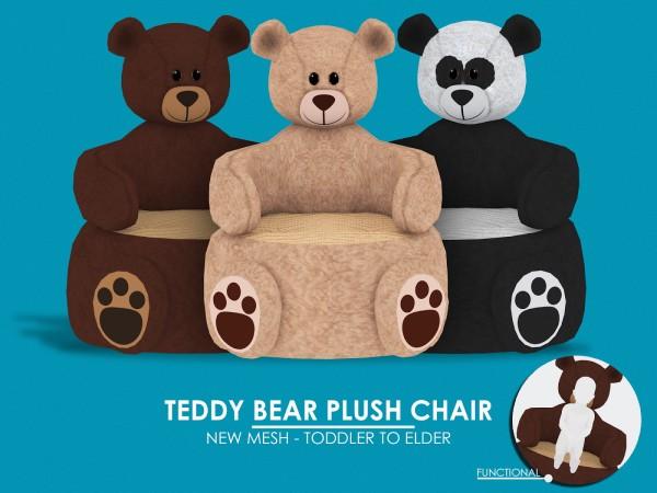 Red Head Sims: Teddy Bear Plush Chair