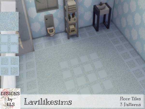 The Sims Resource: Cracked Mosaic Floor by lavilikesims