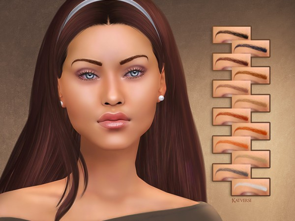 The Sims Resource: Evie Eyebrows by KatVerseCC