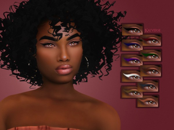 The Sims Resource: Sanya Eyeliner by KatVerseCC