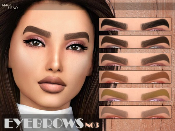 The Sims Resource: Eyebrows N03 by MagicHand